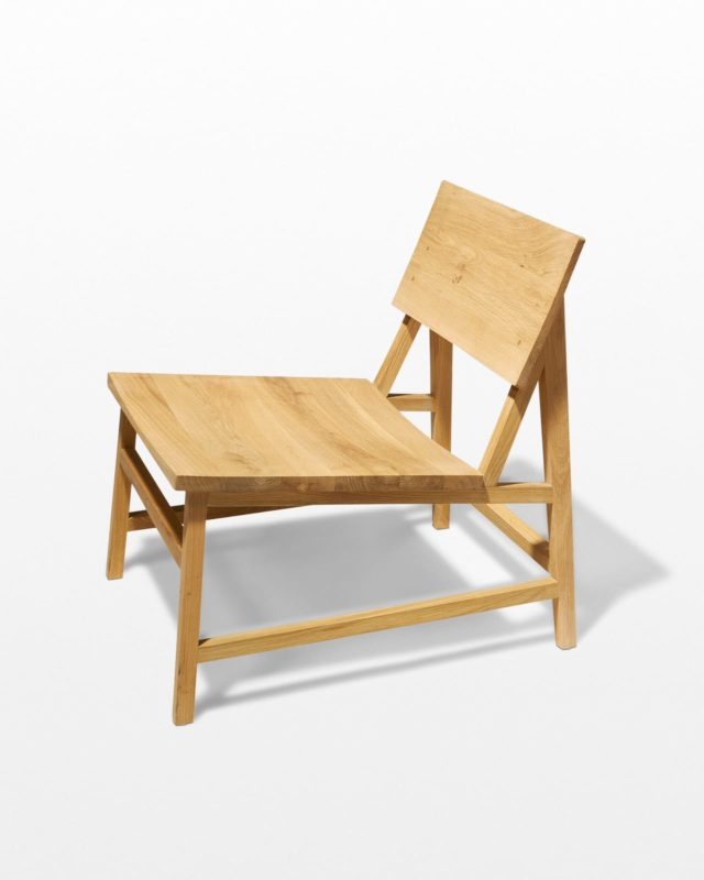 Front view of Randall Oak Lounge Chair