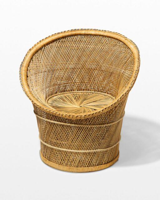 Front view of Elly Rattan Chair