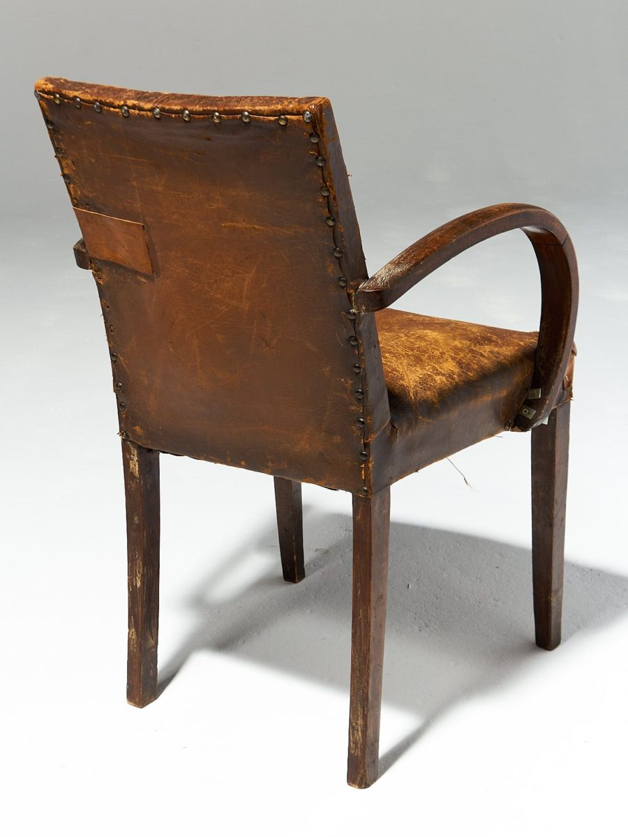 Alternate view 3 of Irvine Distressed Brown Leather Chair