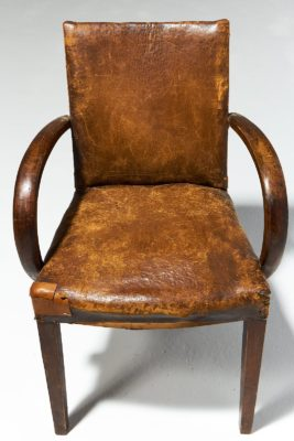 Alternate view 4 of Irvine Distressed Brown Leather Chair