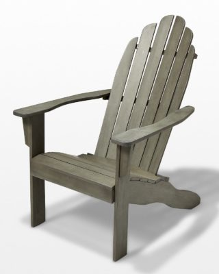 Front view of Grey Wash Wood Adirondack Chair