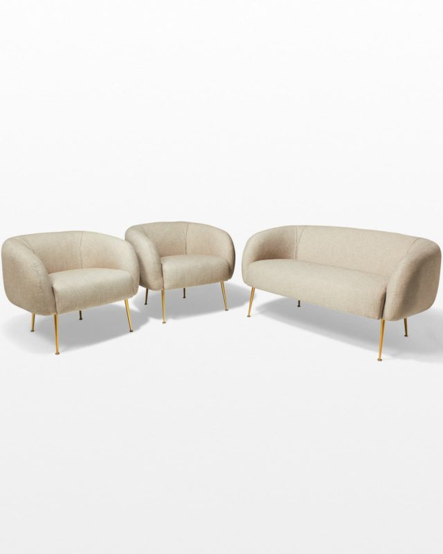 Front view of Peri Loveseat and Armchair Pair Set