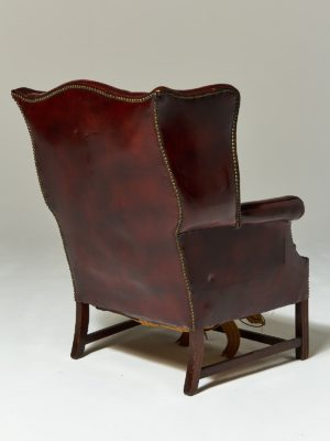 Alternate view 3 of Harold Distressed Leather Wingback Chair