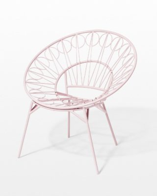 Front view of Lori Pink Blush Ring Chair
