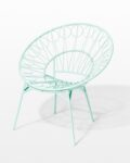 Front view thumbnail of Lori Mint Ring Chair