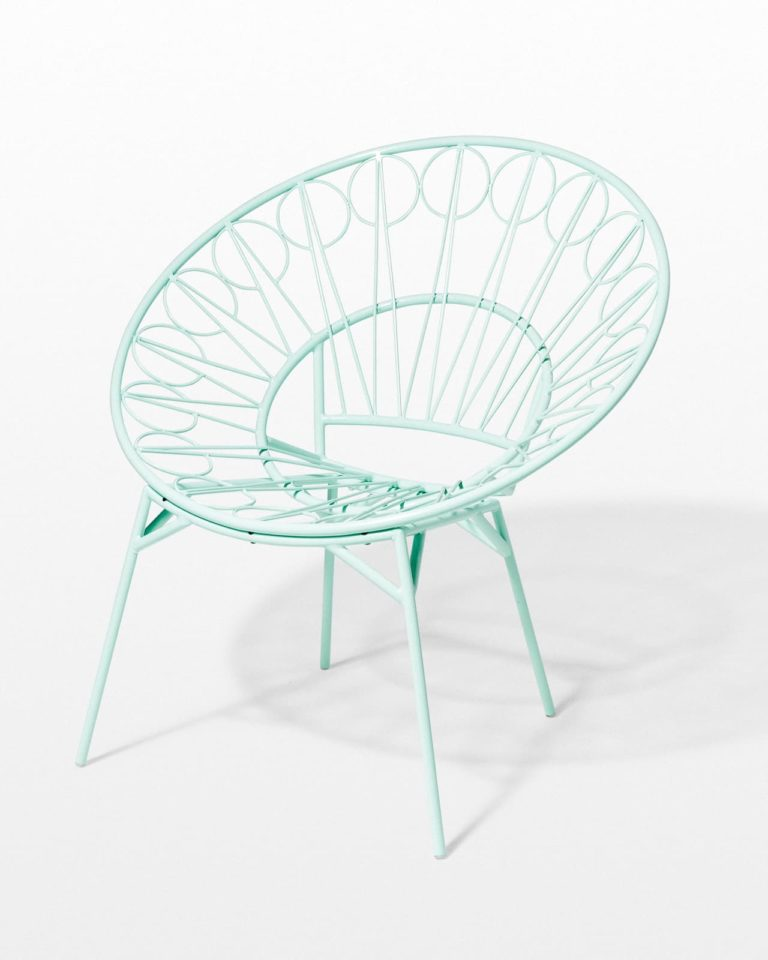 Front view of Lori Mint Ring Chair