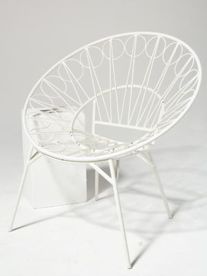 Alternate view 1 of Lori White Ring Chair