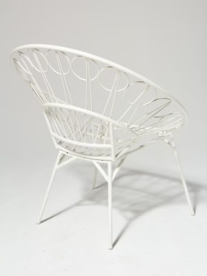 Alternate view 3 of Lori White Ring Chair