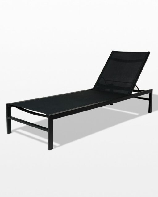 Front view of Oliver Black Frame Pool Lounge Chair