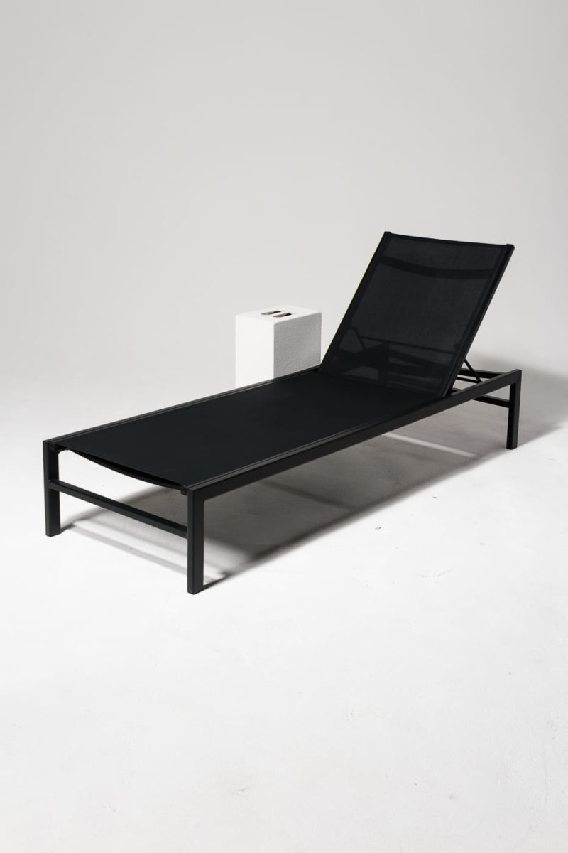 Alternate view 1 of Oliver Black Frame Pool Lounge Chair