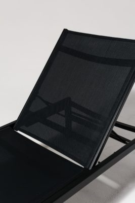 Alternate view 4 of Oliver Black Frame Pool Lounge Chair