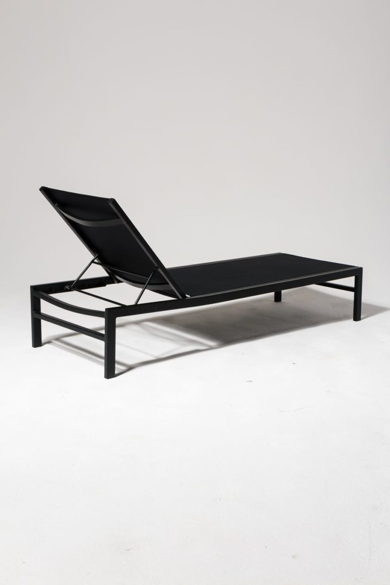 Alternate view 3 of Oliver Black Frame Pool Lounge Chair