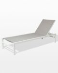 Front view thumbnail of Bella White Frame Pool Lounge Chair