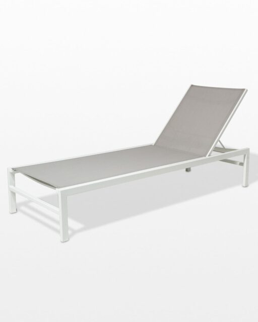 Front view of Bella White Frame Pool Lounge Chair