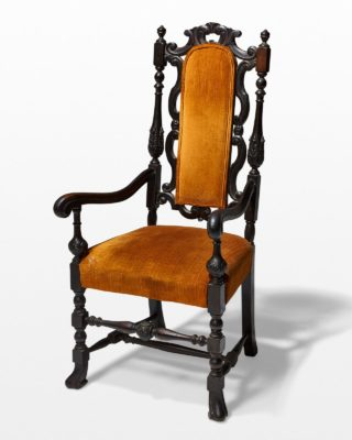 Front view of Stephan Ochre Chair