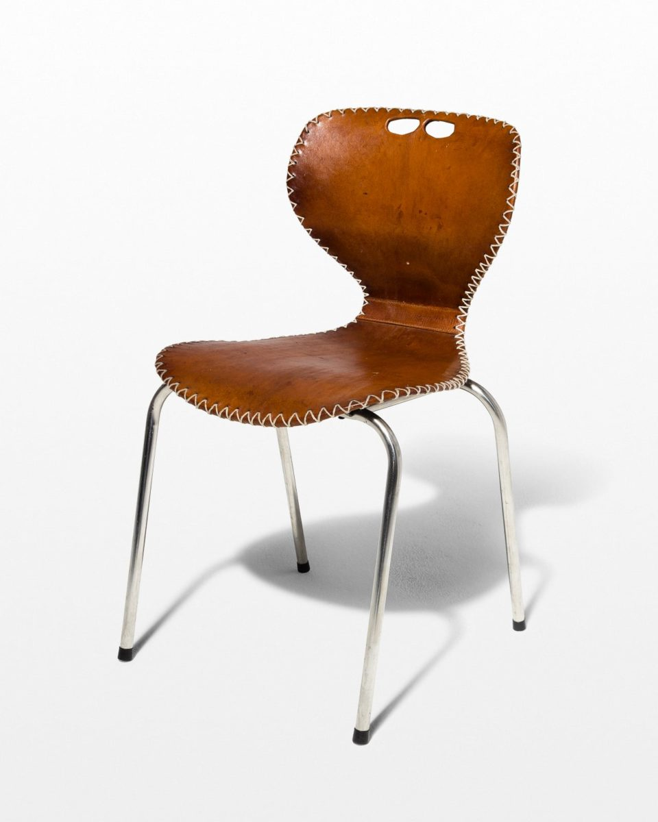 Front view of Lawrence Leather Chair