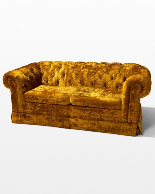 Front view of Honey Velvet Sofa