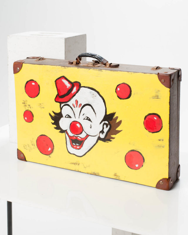 Front view of Clown Suitcase