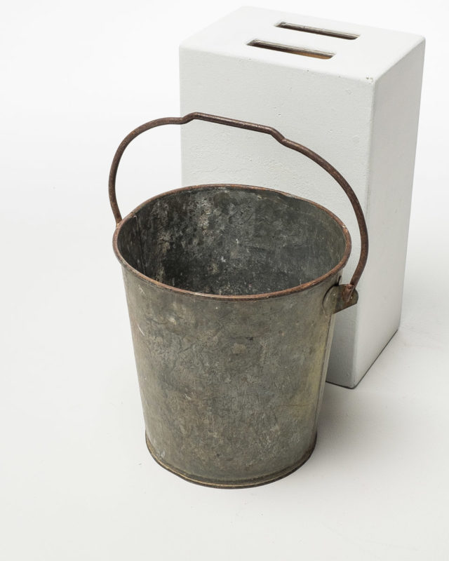 Front view of Metal Bucket