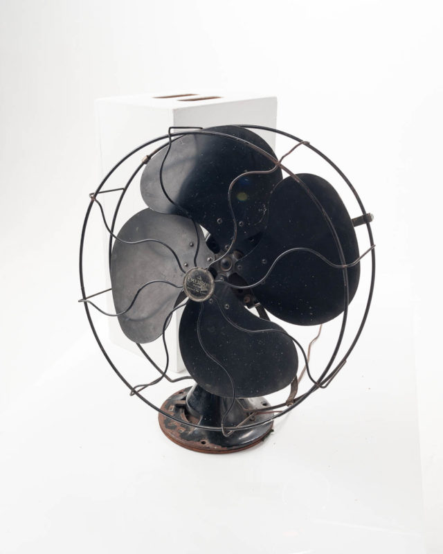 Front view of Black Antique Fan
