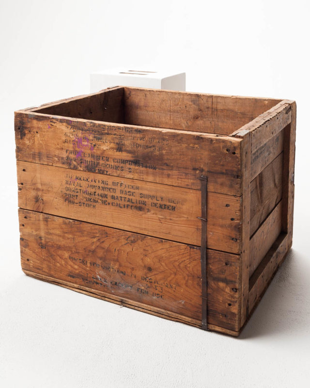 Front view of Antique Crate