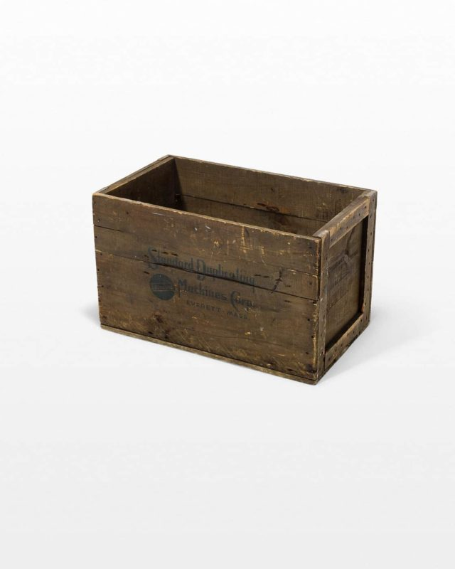 Front view of Solid Wooden Crate