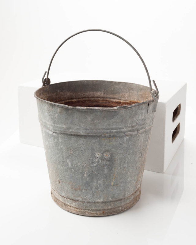 Front view of Metal Water Pail