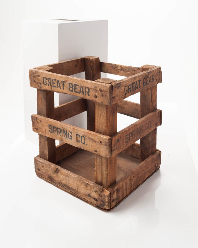 Front view of Open Frame Wood Crate