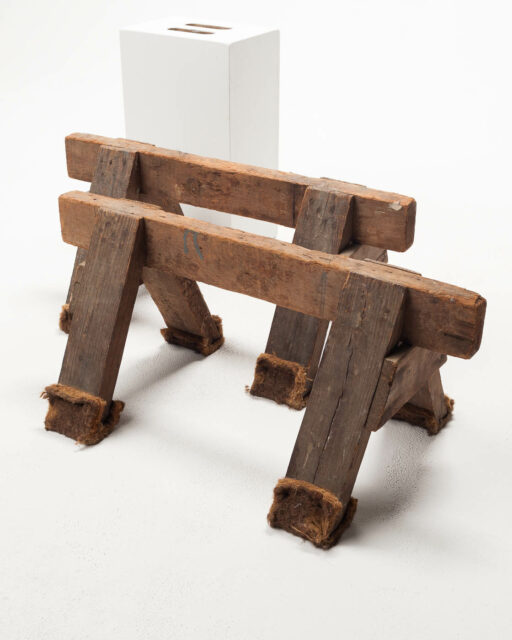 Front view of Short Sawhorses