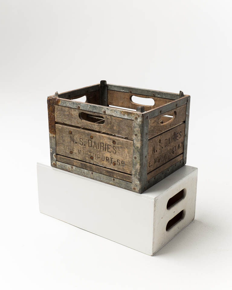 Front view of Metal Frame Milk Crate