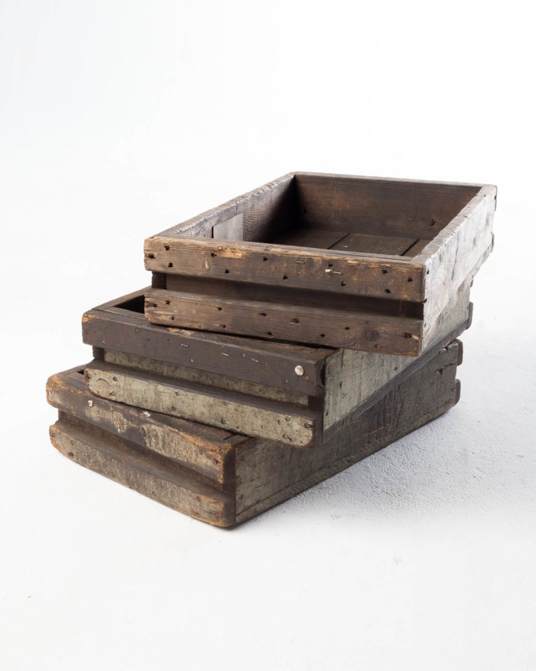 Front view of Sebastian Reclaimed Tray Set