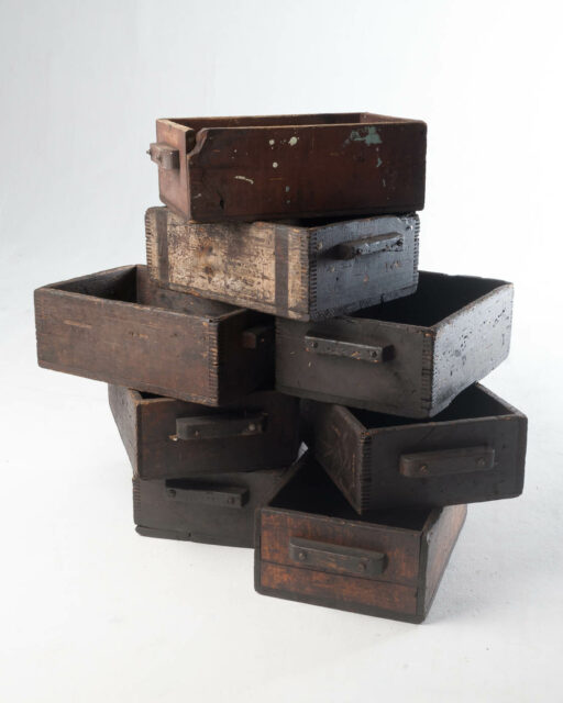 Front view of Sinclair Industrial Crate Set