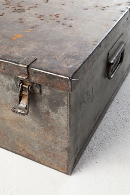 Alternate view 1 of Large Barron Steel Shipping Trunk