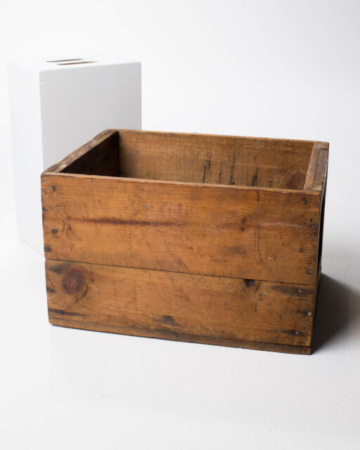 Front view of Park Wooden Crate