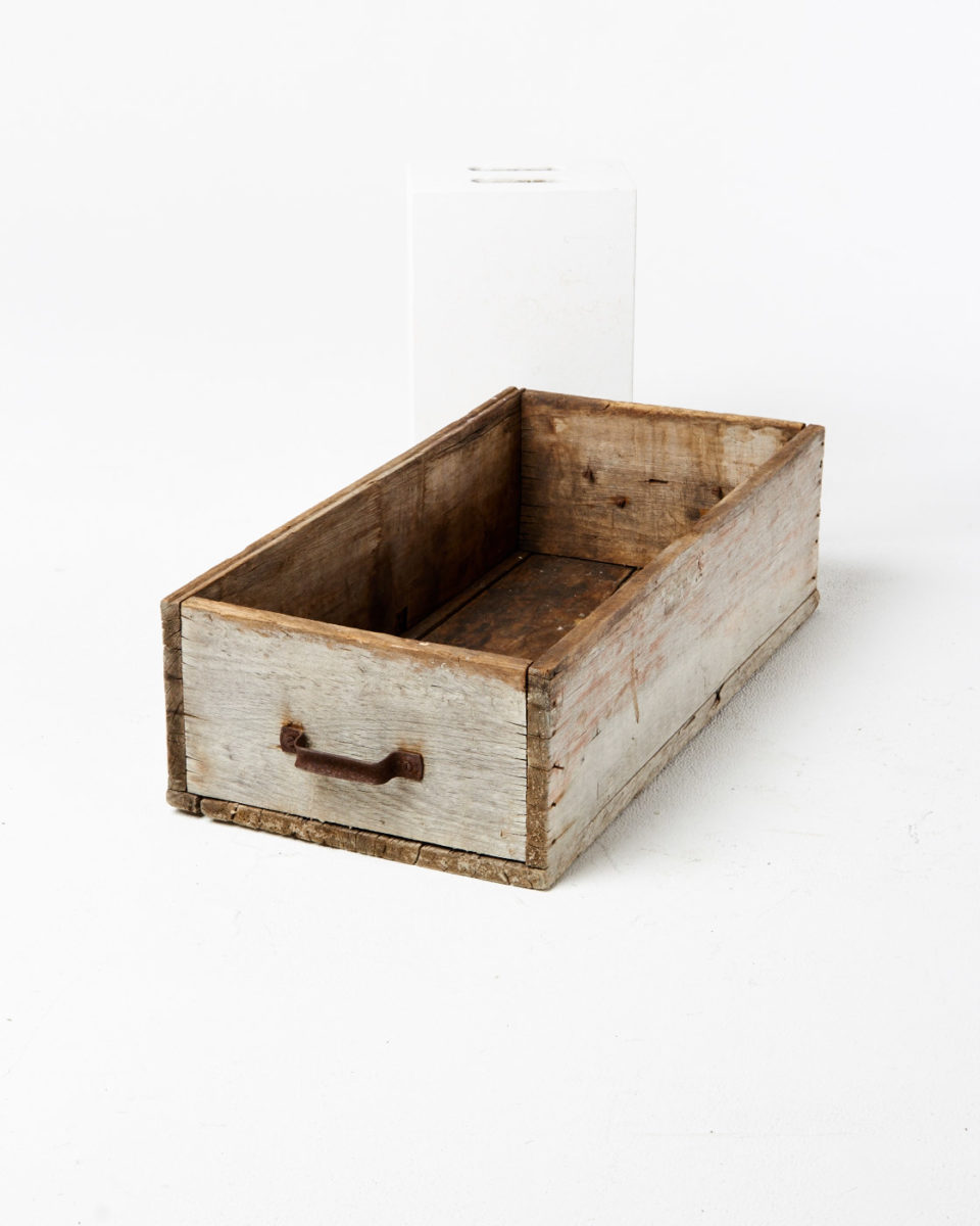 Front view of Joseph Wooden Crate