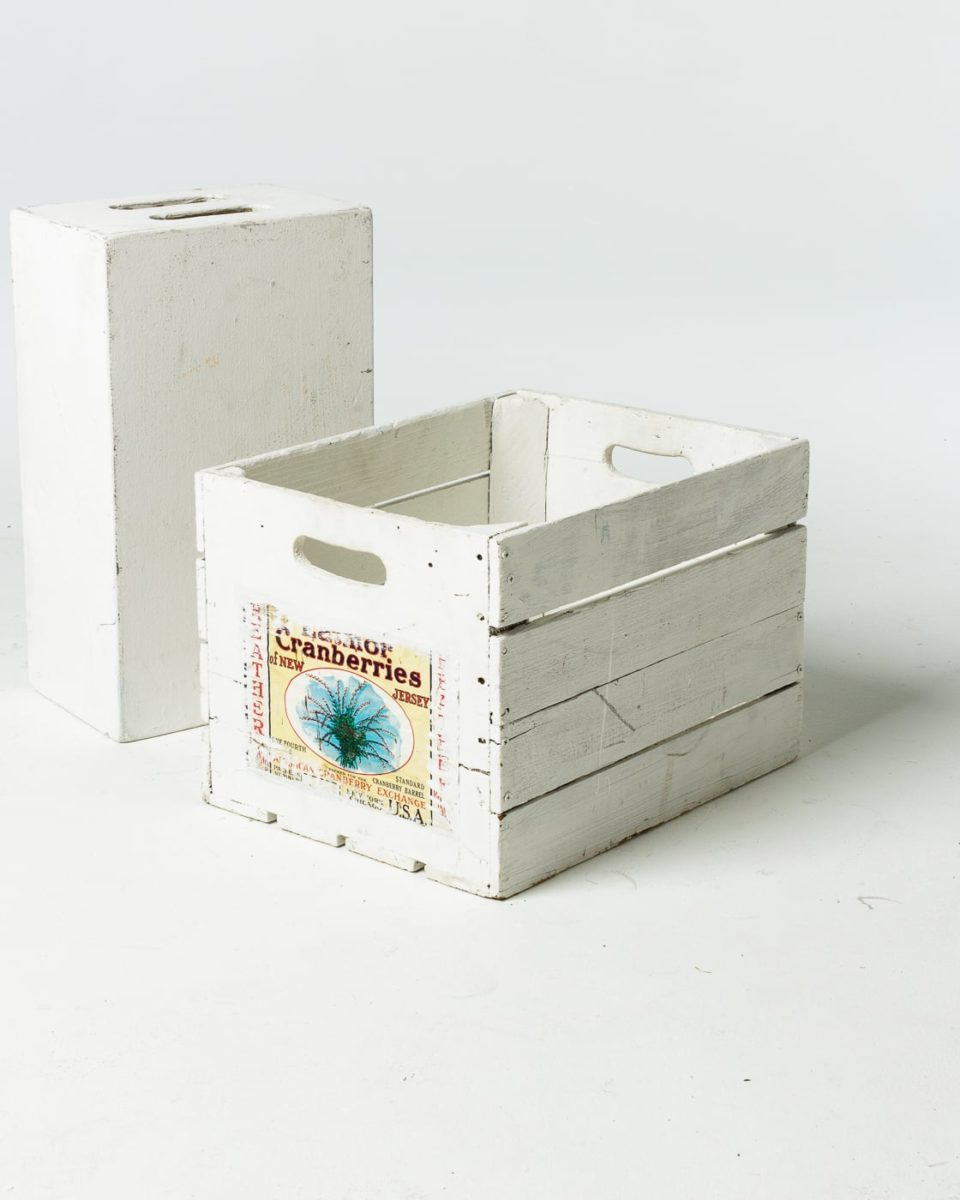 Front view of White Crate