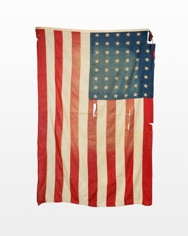 Front view of 6 Foot Distressed Grant Flag
