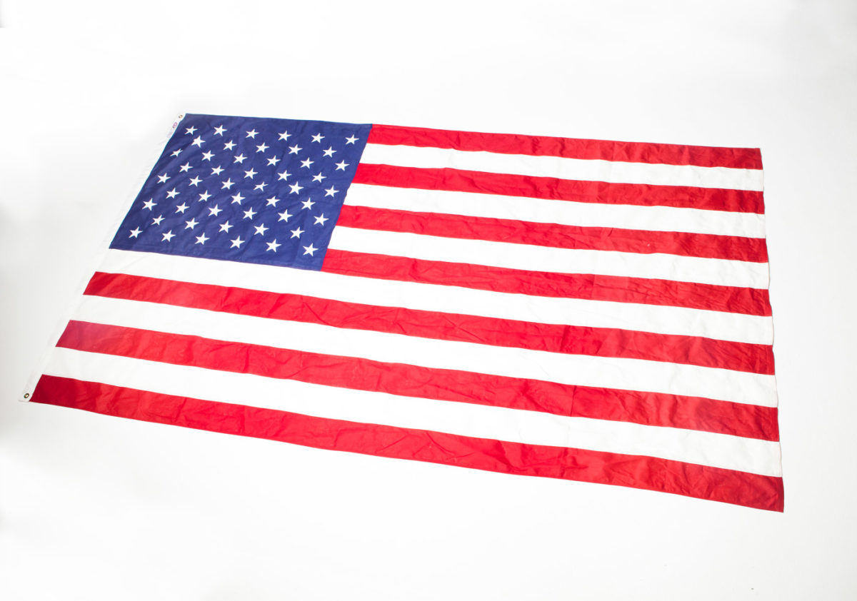 Front view of 10 Foot Large Washington Flag