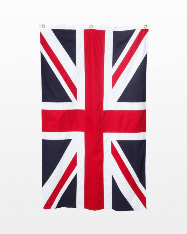 Front view of United Kingdom Flag