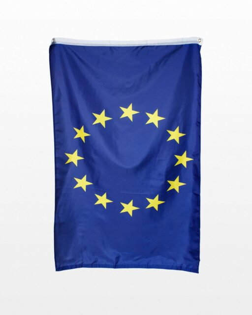 Front view of European Union Flag
