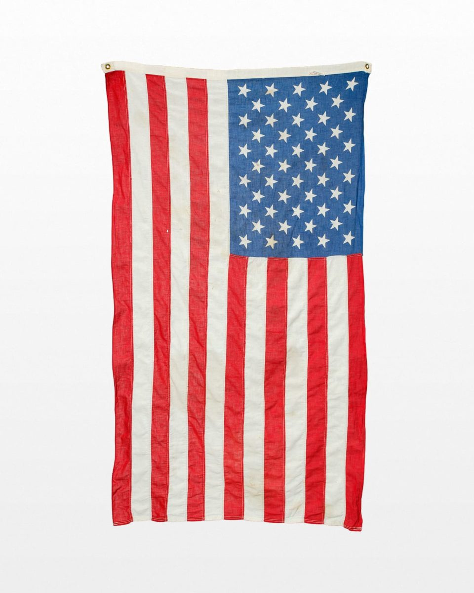 Front view of 5 Foot Distressed Roosevelt Flag