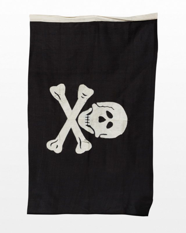 Front view of Bones Pirate Flag