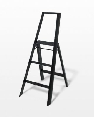 Front view of 4 Foot Black Baldwin Ladder