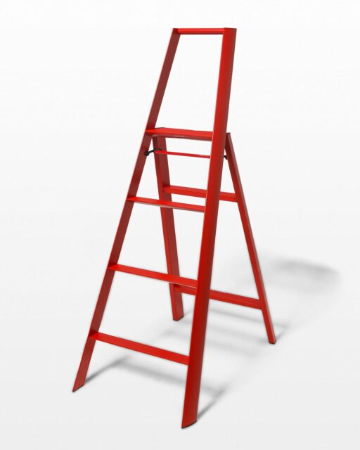 Front view of 5 Foot Red Gala Ladder