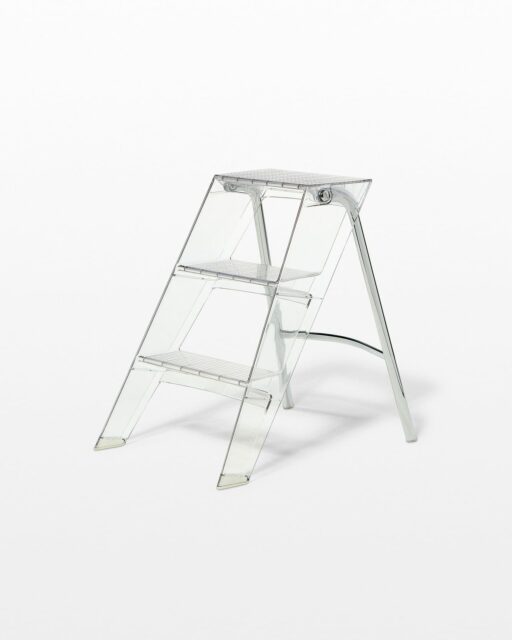 Front view of Transparent Step Ladder
