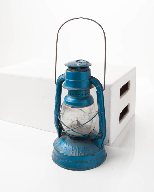 Front view of Blue Little Wizard Lantern