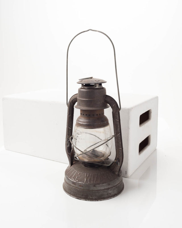 Front view of Grey Little Wizard Lantern