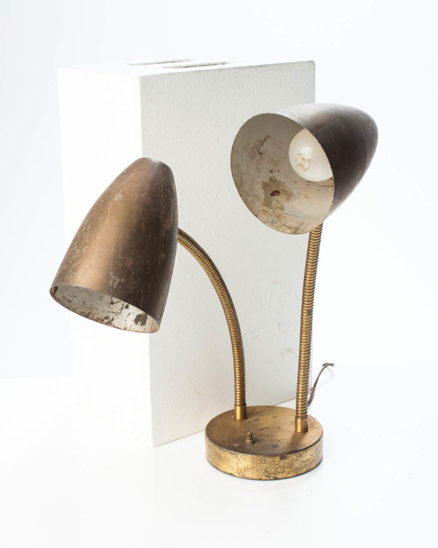 Front view of Distressed Draper Table Lamp