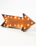 Front view thumbnail of Lighted Distressed Metal Arrow