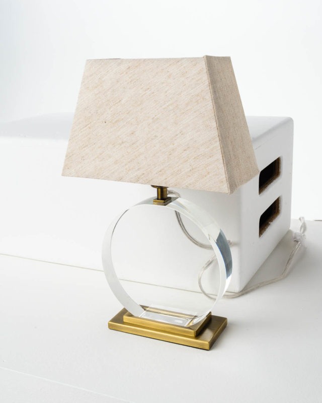 Front view of Transparent Accent Lamp